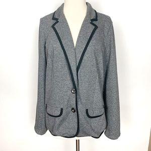 Torrid Black Grey Knit BlazerJacket Size 1